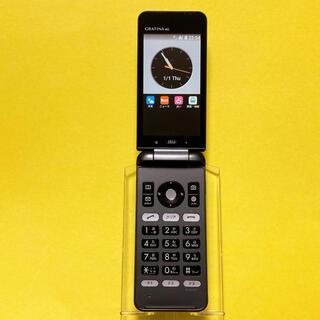 キョウセラ(京セラ)のSIMフリー KYF31 GRATINA 4G 51 ブラック 京セラ au(携帯電話本体)