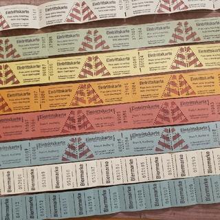 海外チケット 2種類 ドイツ 入場券チケット6色&Biermarke 2色   (印刷物)