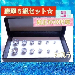 【純正付属品完備】Luxu Steel ラグジュアリーピアス 6組 まとめ売り(ピアス(両耳用))