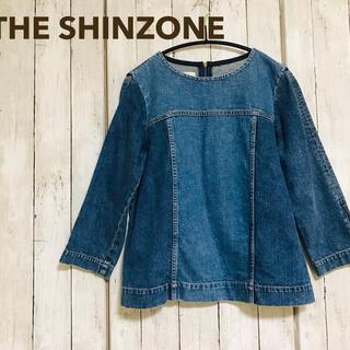 シンゾーン(Shinzone)の●美品● THE SHINZONE ザシンゾーン デニムトップス(カットソー(長袖/七分))