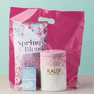 カルディ(KALDI)のKALDI 春のキャニスター缶セット(収納/キッチン雑貨)