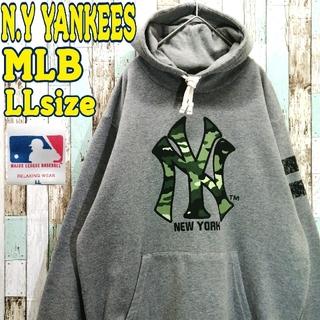 【レア】MLB NEW YORK YANKEES☆パーカー ビッグロゴ 野球(パーカー)