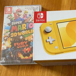 ニンテンドースイッチ(Nintendo Switch)のnintendo switch lite イエロー/スーパーマリオ3Dワールド(携帯用ゲーム機本体)