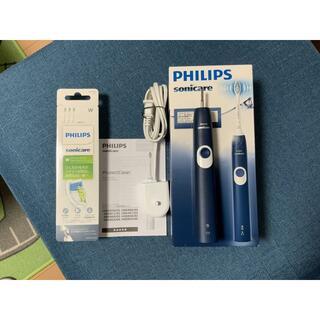 フィリップス(PHILIPS)のフィリップス 電動歯ブラシ ソニッケアー プロテクトクリーン ネイビーブルー美品(歯ブラシ/デンタルフロス)
