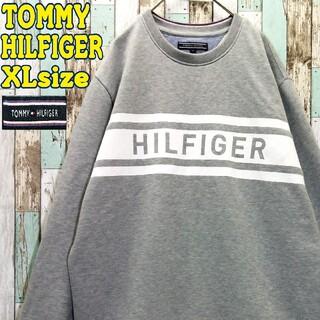 トミーヒルフィガー(TOMMY HILFIGER)の【レア】トミーヒルフィガー☆スウェット ビッグロゴ ビッグシルエット 刺繍ロゴ(スウェット)