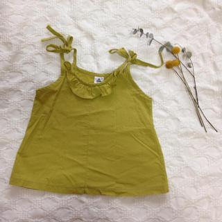 ボンポワン(Bonpoint)の韓国子供服☆マスタード色フリルキャミ(タンクトップ/キャミソール)