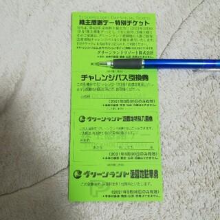 グリーンランドリゾート 株主感謝デー3月30日 特別チケット チャレンジパス(その他)