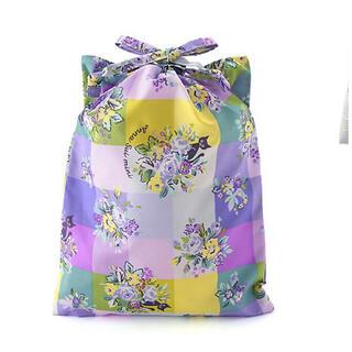 アナスイミニ(ANNA SUI mini)の新品☆アナスイミニ  オリジナルチェック 花柄 猫ちゃん巾着 2枚セット♪(その他)