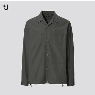 ユニクロ(UNIQLO)の【OLIVE S】 UNIQLO +J スーピマコットンオーバーサイズシャツ(ミリタリージャケット)