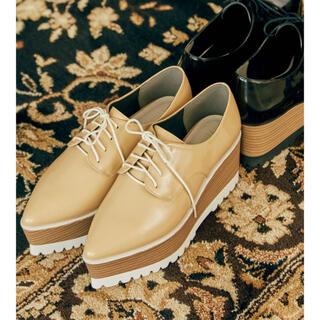 ムルーア(MURUA)のMURUA レースアップウッドローファー(ローファー/革靴)