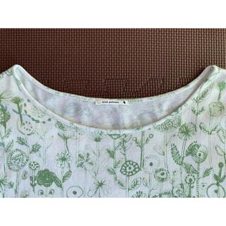 ミナペルホネン(mina perhonen)のミナペルホネン letter of flower ワイドカットソー Tシャツ(Tシャツ(半袖/袖なし))