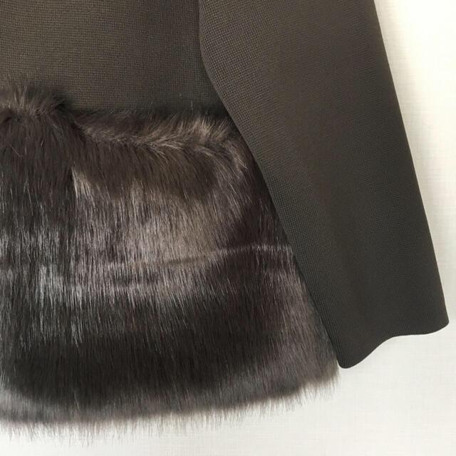 Drawer(ドゥロワー)のグーコミユーン ファーカーディガン ヨーコチャン DRAWER 卒園式 レディースのジャケット/アウター(ノーカラージャケット)の商品写真
