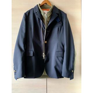 サカイ(sacai)の21SS sacai MEN Suiting x MA-1 Jacket(テーラードジャケット)