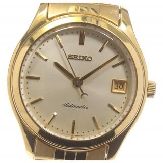 セイコー(SEIKO)のセイコー メカニカル デイト 裏スケ 4S35-8000 メンズ 【中古】(腕時計(アナログ))