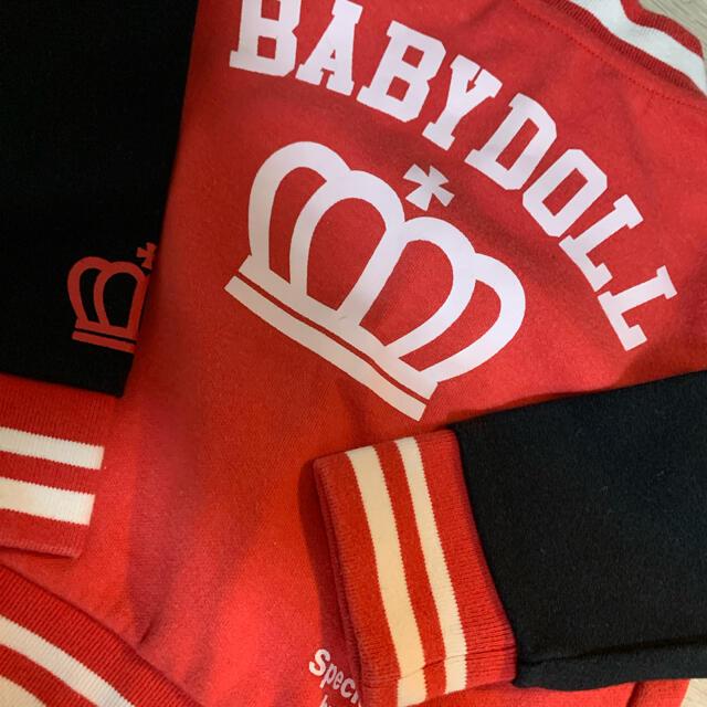 BABYDOLL(ベビードール)のベビードール パーカー ディズニー キッズ/ベビー/マタニティのベビー服(~85cm)(トレーナー)の商品写真