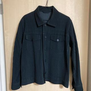 イッセイミヤケ(ISSEY MIYAKE)のhomme plisse トラッカージャケット(ブルゾン)