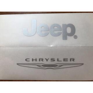 ジープ(Jeep)のクライスラー ジープ ステッカー(車外アクセサリ)