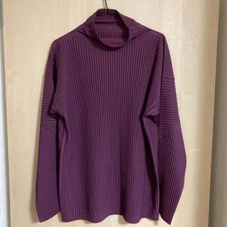 イッセイミヤケ(ISSEY MIYAKE)のhomme plisse プリーツハイネックカットソー(Tシャツ/カットソー(七分/長袖))