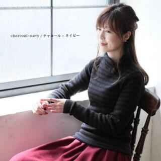 ソルベリー(Solberry)のタートルネック♡ボーダー♡ニット/ソウルベリー/Soulberry/チャコール(ニット/セーター)