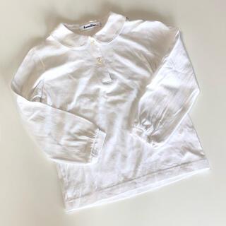 ファミリア(familiar)の【お受験】familiar 長袖ポロシャツ 110(ドレス/フォーマル)