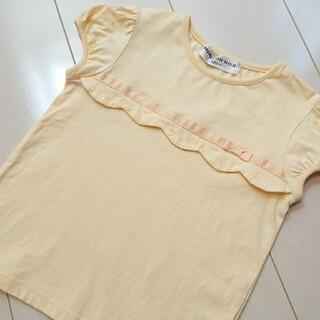 メゾピアノ(mezzo piano)のお値下げ♪【120】MOO NONNON スカラップ カットソー 半袖Tシャツ(Tシャツ/カットソー)
