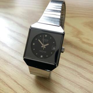 ラドー(RADO)のRADO DIASTAR ラドー ダイアスター デイト スクエアケース 腕時計(腕時計)