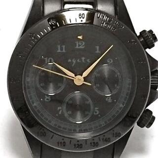 アガット(agete)のagete(アガット) 腕時計 - メンズ 黒(その他)