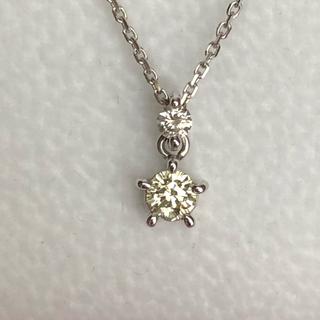k18wg さくらダイヤモンド ネックレス(ネックレス)