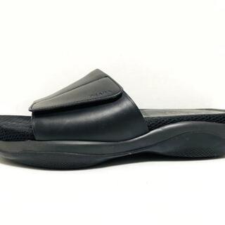 プラダ(PRADA)のプラダスポーツ ミュール 38 1/2 メンズ 黒(ミュール)