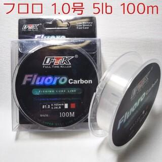 フロロカーボンライン 1.0号 100m 5lbリーダー メバリング アジング(釣り糸/ライン)