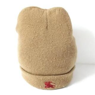 バーバリー(BURBERRY)のバーバリーズ ニット帽 - ライトブラウン(ニット帽/ビーニー)
