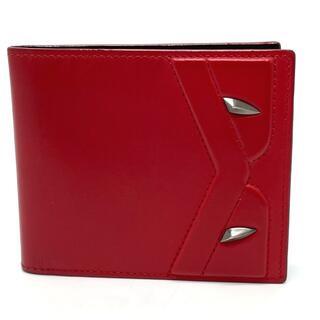 フェンディ(FENDI)のフェンディ 7M0169 バッグバグズ 2つ折り短財布 モンスター レッド(折り財布)