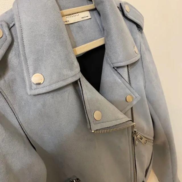 ZARA(ザラ)のZARA BASIC スエード風ライダースジャケット レディースのジャケット/アウター(ライダースジャケット)の商品写真