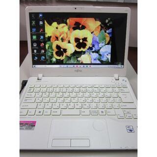 フジツウ(富士通)のモバイルPC Core i3 新品SSD Win10 最新マイクロソフトオフィス(ノートPC)