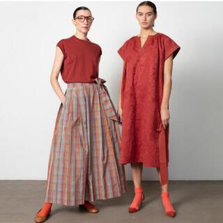 ドゥロワー(Drawer)のdrawer マドラスチェック スカート 新品(ロングスカート)