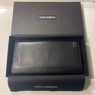 ドルチェアンドガッバーナ(DOLCE&GABBANA)の【美品正規品】DOLCE&GABBANA 長財布 黒 (長財布)