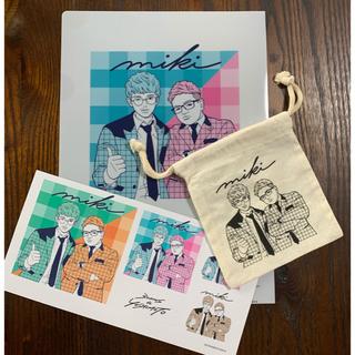 スリーコインズ(3COINS)の3COINS 吉本コラボ ミキ クリアファイル ミニ巾着(お笑い芸人)