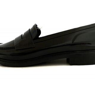 ハンター(HUNTER)のハンター ローファー US 5 レディース - 黒(ローファー/革靴)