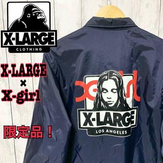 エクストララージ(XLARGE)の[古着]X-LARGE コーチジャケット X-girl 限定コラボ 超レア M(ナイロンジャケット)
