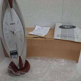 セイコー(SEIKO)のSEIKO 置時計 セイコー シルバー BZ335S 稼働品(置時計)
