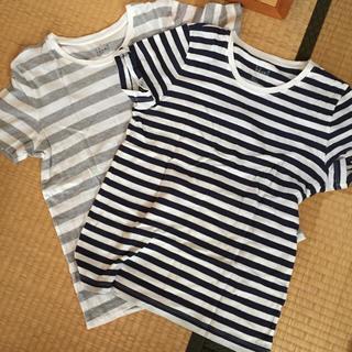 ムジルシリョウヒン(MUJI (無印良品))のボーダーTシャツ2枚セット(Tシャツ(半袖/袖なし))