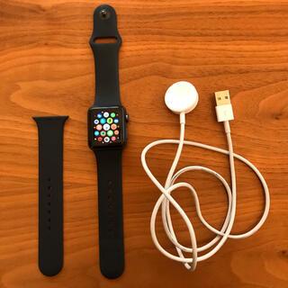 アップルウォッチ(Apple Watch)のApple Watch series 3  38㎜ スペースグレー GPS(腕時計(デジタル))