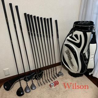 ウィルソン(wilson)のきん様専用‼️名器Wilsonメンズゴルフセット‼️カッコ良いエナメルバッグ付(クラブ)