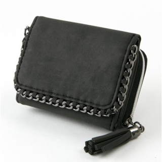 ザラ(ZARA)のチェーンエッジング 三つ折り財布 ミニ財布(財布)
