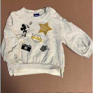 ディズニー(Disney)のトレーナー ミッキー柄長袖カットソー 90cm(Tシャツ/カットソー)