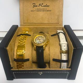 アヴァランチ(AVALANCHE)のJoe Rodeo  ゴールド 腕時計 ダイヤウォッチ AVALANCHE(腕時計(アナログ))