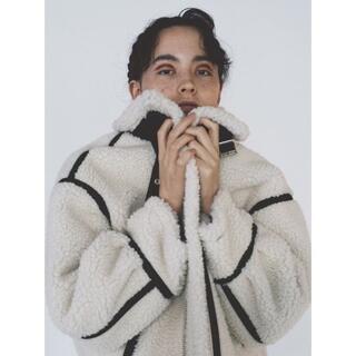 ファーファー(fur fur)の完売☆FURFUR☆2020☆ボンバージャケット☆アイボリー☆即発送/新品(ミリタリージャケット)