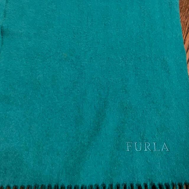 Furla(フルラ)の【送料無料】FURLA フルラ エメラルドグリーン マフラー レディースのファッション小物(マフラー/ショール)の商品写真