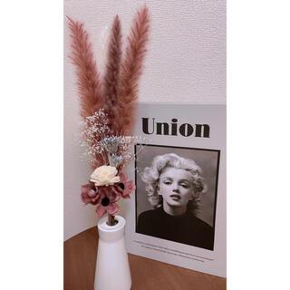 【3月✴︎限定】ドライフラワースワッグ ピンクベース 花材 テールリード 春(ドライフラワー)