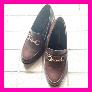シマムラ(しまむら)のプチプラのあや ディアフル dearful しまむら ローファー 茶色(ローファー/革靴)